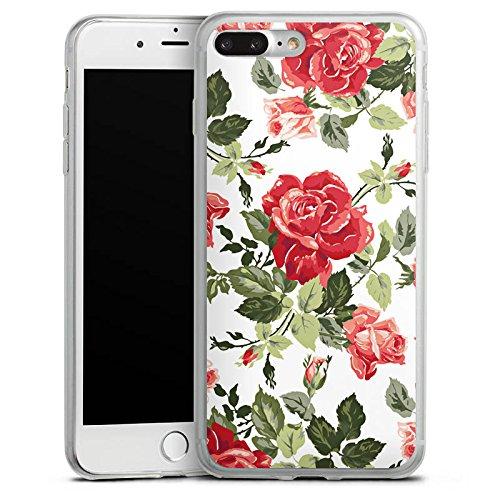 Apple iPhone X Slim Case Silikon Hülle Schutzhülle Rosen Frühling Blüten Silikon Slim Case transparent