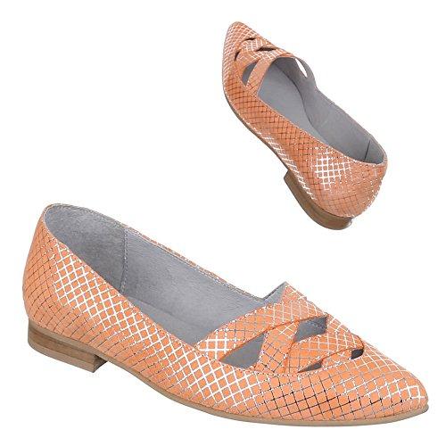 Ital-Design - Scarpe con Tacco Donna Arancione (arancione)