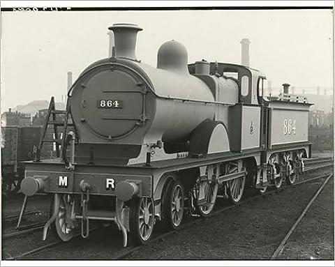 Photographic Print of Midland Railway Class 3, 4-4-0 steam locomotive number 864