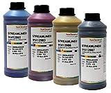Mimaki Streamline Tinte Ultima HPQLO | 1 Liter | geruchsarme Premium-Tinte Reiniger Tinten-Set (CMYK-Set)