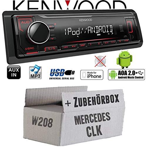 Mercedes CLK W208 - Autoradio Radio Kenwood KMM-205 - MP3   USB   iPhone - Android - Einbauzubehör - Einbauset