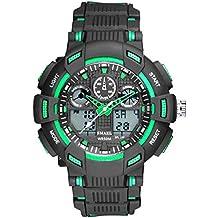 AnazoZ Relojes Electronicos Reloj de Doble Pantalla Relojes LED Reloj Hombre Luminoso Reloj Hombre Moda Reloj