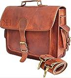 Laptoptasche aus Leder, Vintagedesign, Messengertasche, handgefertigte Aktentasche, Umhängetasche, Schultertasche