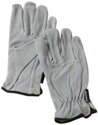 - Spaltleder-arbeits-handschuhe (Dunlop 360112 Profi Rinds-Spaltleder Fahrerhandschuhe Gr. L, grau, Cat. 2 zertifiziert EN388/ 3132)