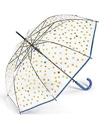 Paraguas Transparente Emoticonos Azul