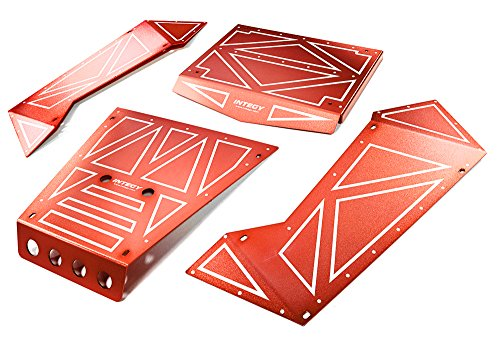 Integy RC Model Hop-ups C27006RED Aluminum Alloy Panel Kit for Axial 1/8 Yeti XL Rock Racer Buggy - Yeti Rc-kit