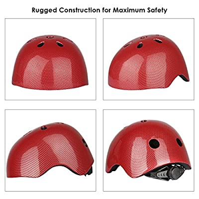Six Foxes Kids Cycle Helmet - Adjustable Kids Cycling Helmet Multi-Sport Safety Bike Skating Scooter Helmet for 3 to 8 Years Old Girls/Boys by Six Foxes