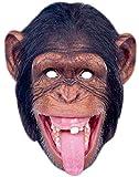 erdbeerclown- Schimpansen Maske, Schwarz, Braun