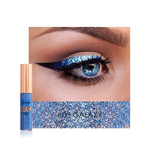 Flussig Woya Wasserfest Make Up Silber Gold Schwarz Pink Blau (Schwarzer Lidschatten Halloween-make-up)