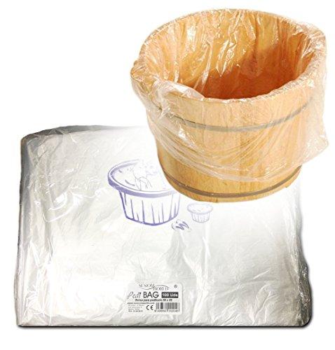 comprar Sesiomworld Pedibag Bolsa de Plástico Especial Pedicura para La Protección de Pediluvio o Bañera, Paqute de 100 unidades 100 Unidades 500 g