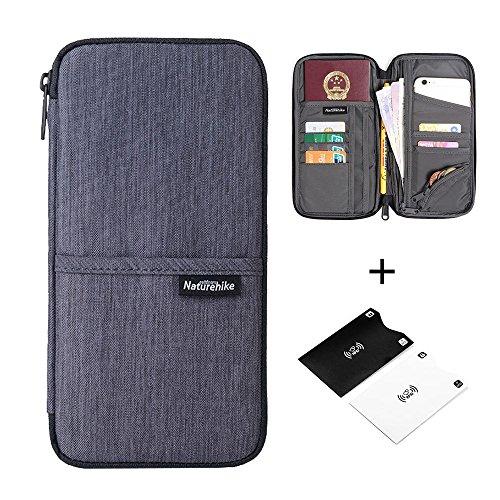 Reise-Brieftasche Reisepass-Halter langlebig wasserdicht Organizer mit Handschlaufe für Familien-Dokumente Karten -Urbangrau (Brieftasche Tasche)