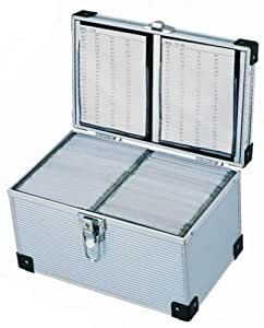 Neo Media Aluminium CD or DVD Storage Box with sleeves holds upto 200 disks