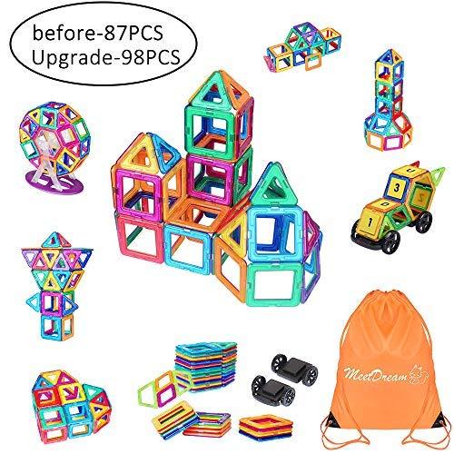 e Bausteine, 87 Stück Gebäude Bau Block Kinder DIY Stocking Spielzeug Kreativität Lernspielzeug für Kinder mit Tragetasche ()