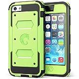 Carcasa para Apple iPhone 5C, i-Blason Armorbox Funda con protector de pantalla integrado y almohadillas antiimpactos, Verde