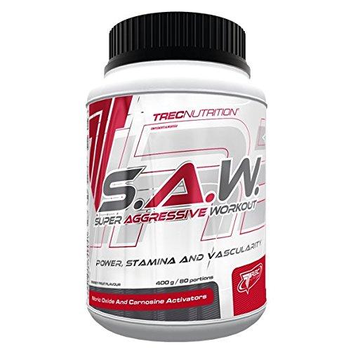 S.A.W. POWDER 400g - muscolare, la forza SUPER AGGRESSIVO ALLENAMENTO SAW TREC NUTRITION