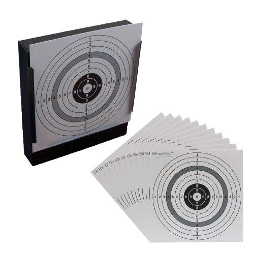 ShoXx.® Kugelfang für Druckluftwaffen und 100 shoot-club Zielscheiben im Format 14x14cm