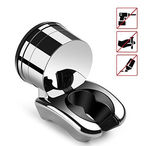Duschkopf Halterung Duschkopfhalterung Duschhalterung für Handbrause Duschbrause, Chenci Verstellbar Brausehalter 10kg Maximum Lagergewicht mit Polymer-Gummisauger für Badezimmer (1 Halterung)
