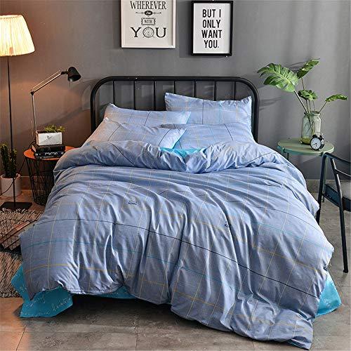 YUNSW Cotton Floral Bettbezüge Queen King Size Single Double Flower Bettbezug Quilt Bettbezug Bettbezug A 220x240cm -