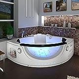 Whirlpool Pool Badewanne Eckwanne Wanne A1506H-ALL 152x152cm Reinigungsfunktion, Selfclean:aktive Schlauch-Reinigung +90.-EUR