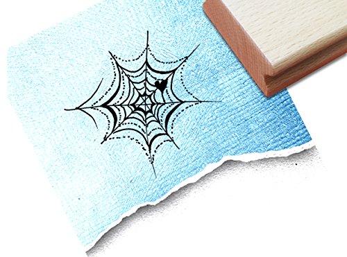Kinderstempel Motivstempel Halloweenstempel - Spinnennetz zu Halloween - Bilderstempel zum Ausmalen für Kita - Kinderzimmer - Schule und Beruf (Drucken Malvorlagen Halloween)