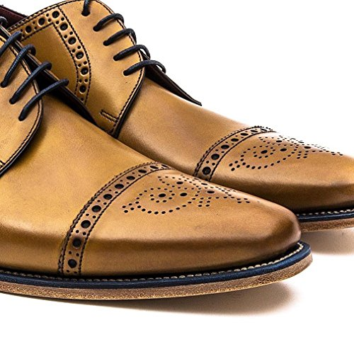 Loake Foley Mens Formelle Lacets Chaussures Tan Bruni