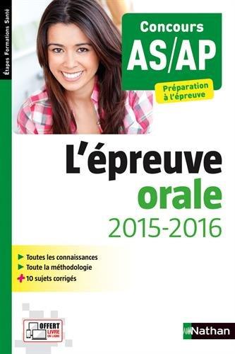 Épreuve orale 2015/2016 AS/AP