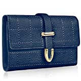 Ladies Large Purses Wallet For Womens Faux Leather Designer New With Tags Long, Navy