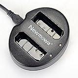 Newmowa Dual USB Charger for Nikon EN-EL14, EN-EL14a and Nikon P7000, P7100, P7700, P7800, D3100, D3200, D3300, D5100, D5200, D5300,D5500, Df