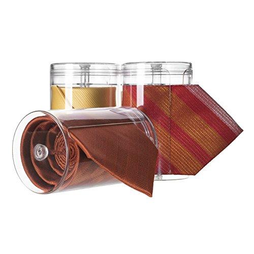 Tiesave Krawattenbox 3er Vorteilspack, Die Krawatten Box, Krawattenrolle, Krawattenetui