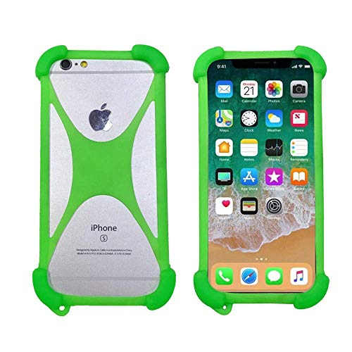 Custodia per Leagoo Elite Y 2 4 Alfa 2 6 Venture 1 X Rover Custodia Protettiva in Silicone Flessibile Antiurto Bumper Case Cover per Leagoo Lead 1 3 5 6 Shark 1 KiiCaa Mix Power 2 PRO(Verde)