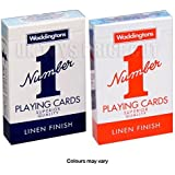 2 New Decks of Waddington No1 Classic Playing cards Red & Blue(pack of 1)