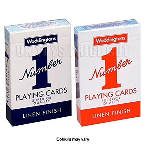 2 New Decks of Waddington No1 Classic Playing cards Red