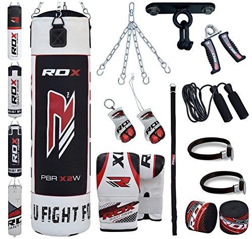 RDX 13PC Boxen MMA Sack 4FT 5FT Boxsack Deckenhaken Set Kickboxen Sandsack Training Gefüllt Gewicht