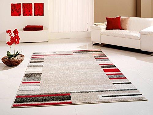 Cats Collection Designer Teppich beige-rot 200 cm x 290 cm