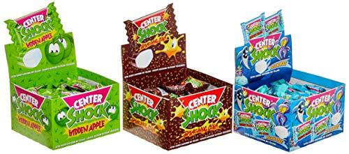 (Center Shock Mix: 3 Boxen mit 100 Kaugummis, Splashing Cola, Hidden Apple, Ocean Reef, extra-sauer, Cola, Apfel, Wassermelone und Himbeere)
