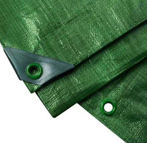 NOOR Abdeckplane PROFI 140g/m² Grün I 3 x 4 m I Allzweckplane für Schutz vor Witterung I Ideal geeignet für Gartenbereich I UV-stabilisiert, beidseitig beschichtet, wasserfest und abwaschbar