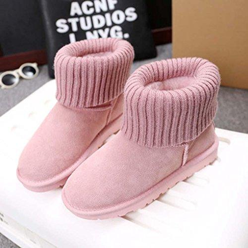 Heart&M Versione coreana del nuovo inverno stivali caldi spessa tempo libero cotone lana signore macchia breve tubo neve stivali e