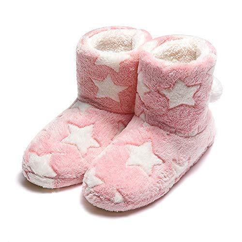 Garatia donna pantofole inverno caldo stella pantofola con pom poms pink38/39 eu