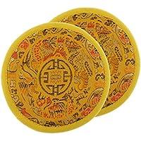 IPOTCH Cojín para Tazón de Fuente Cuenco Tibetano Tazón de Yoga Meditación Estilo Regional Ornamento Manual de Paño