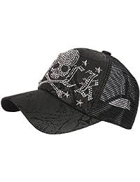 f053b267b93 RaOn M65 Black Gold Silver Cubic Stud Metal Skull Club Punk Mesh Hat  Trucker Ball Cap