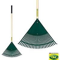 "GroundMaster 24"" Wide Plastic Leaf Rake - Durable 26 Teeth Versatile Lawn Tool"
