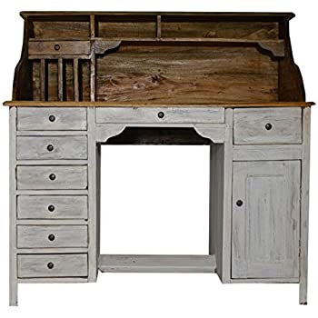 bureau table secretaire style meuble ancien bois blanc ecriture toilette shabby. Black Bedroom Furniture Sets. Home Design Ideas