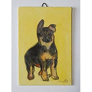 Der Hund – Kartongröße 10x15x0.3cm cm, Acryltechnik und fertig zum Ankleben an die Wand Made in Italy, Toskana Lucca Erstellt von Davide Pacini.