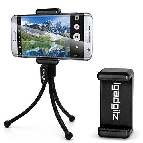 igadgitz-black-mini-tripod-with-pocket-clip-premium-smartphone-holder-mount-bracket-adapter-for-sams