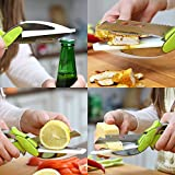 KitWa - clever cutter, couteau 4 en 1 - coupe fruits et légumes, ciseaux de cuisine, remplace vos couteaux et planches à découper, Garantie 1 an!.