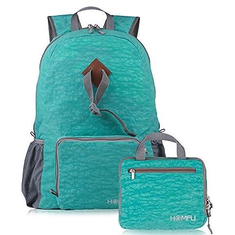 Sac à dos pliable 15L 30L 35L Ultra léger pour randonnée en plein air, camping et pour voyager (Vert, 30L)