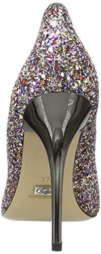 Buffalo London 11335-269 Glitter Sl01, Scarpe Col Tacco con Cinturino a T Donna Multicolore (MULTICOLOR 02)