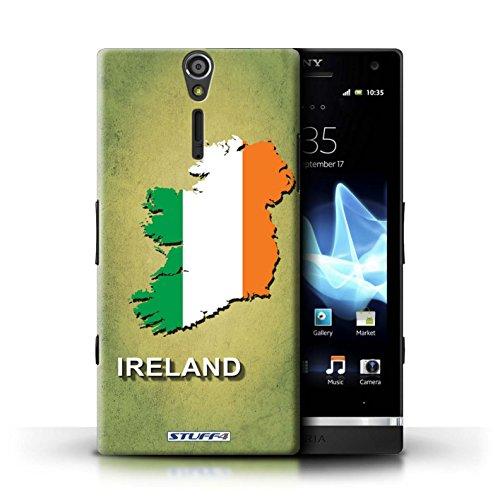 Kobalt® Imprimé Etui / Coque pour Sony Xperia S/LT26i / grande-Bretagne conception / Série Drapeau Pays Irlande/irlandaise
