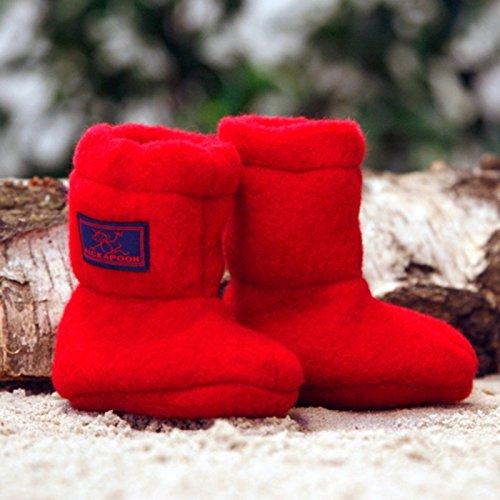 PICKAPOOH Baby Stiefel aus Wollfleece kbT Kirsche