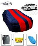 #5: Fabtec Car Body Cover for Honda Civic Red & Blue Colour with Storage Bag + Air Freshener + Microfiber Glove Combo!